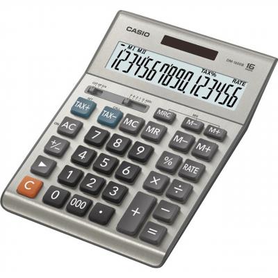 ماشین حساب کاسیو مدل DM-1600B (نقره ای)
