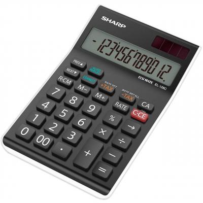 ماشین حساب شارپ مدل EL-128C (مشکی)