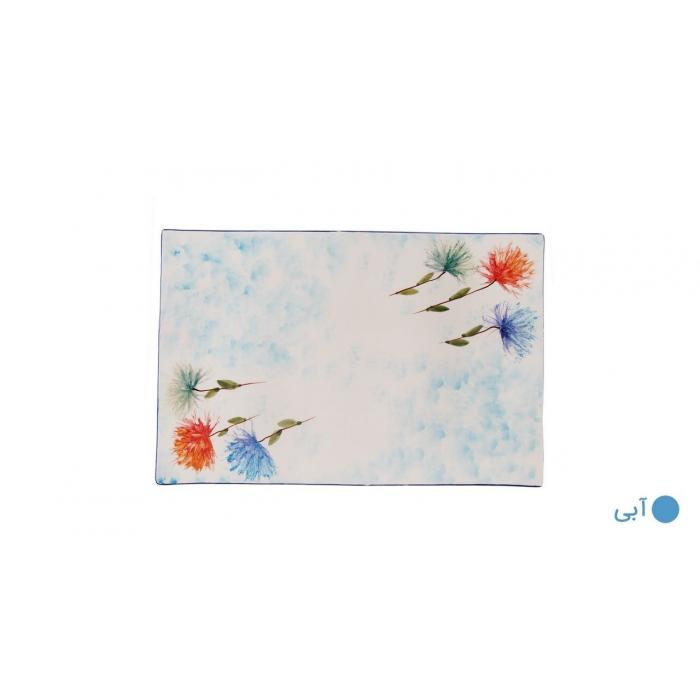 دیس سرامیکی طرح قاصدک مدل مستطیل گالری هنرسرای رضا کد 227037 (سبز)