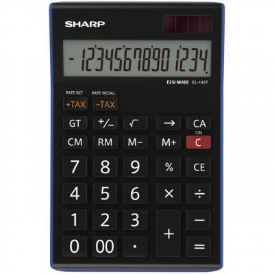 ماشین حساب شارپ مدل EL-145T BL (مشکی)
