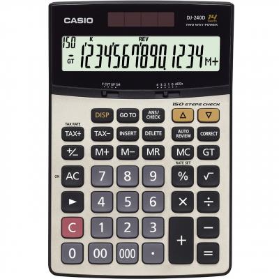 ماشین حساب کاسیو DJ-240 D (نقره ای)