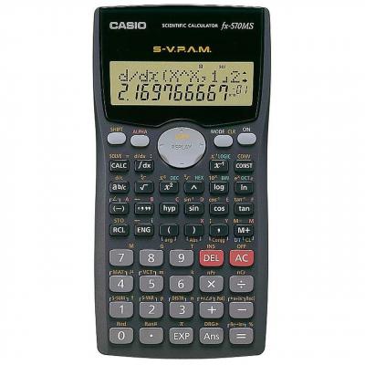 ماشین حساب کاسیو FX-570-MS (سرمه ای)