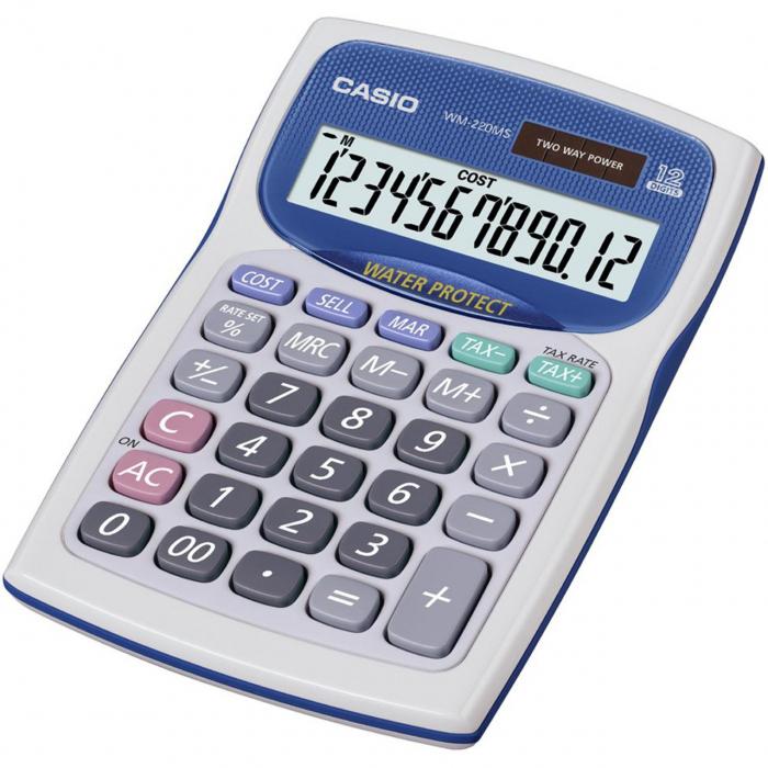 ماشین حساب کاسیو مدل WM-220MS (سفید)