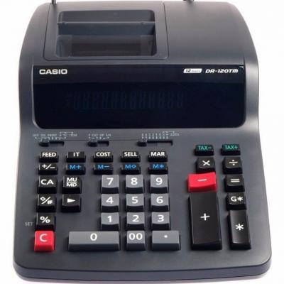 ماشین حساب کاسیو مدل DR-120 TM (مشکی)