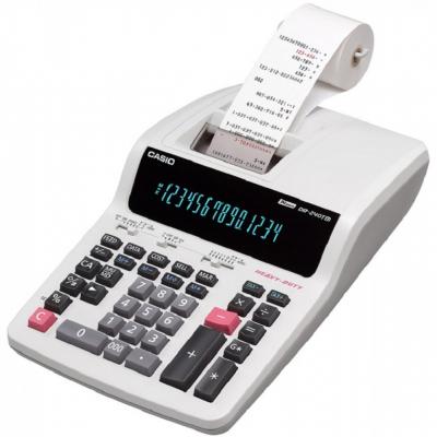 ماشین حساب کاسیو مدل DR-240TM (سفید)