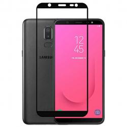 محافظ صفحه نمایش شیشه ای بوف مدل 5D مناسب برای گوشی Samsung J8 (مشکی)