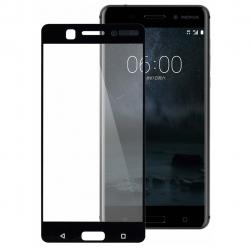 محافظ صفحه نمایش شیشه ای بوف مدل 5D مناسب برای گوشی Nokia 6 (مشکی)