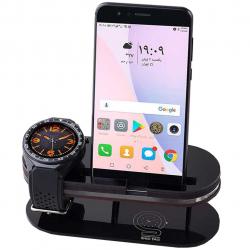پایه نگهدارنده ساعت هوشمند و گوشی موبایل شیدتگ (مشکی)