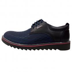 کفش مردانه چرم طبیعی طرح دار کامفورت مدل 00i