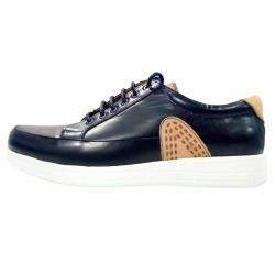 کفش مردانه چرم طبیعی پرادا مدل P2 سایز 42 (سرمه ای)