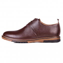 کفش مردانه چرم طبیعی ژاو مدل 1182 سایز 42 (قهوه ای تیره)