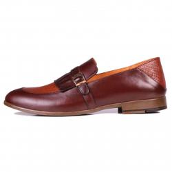 کفش مردانه چرم طبیعی ژست مدل 6012 سایز 41 (قهوه ای تیره)