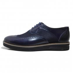 کفش مردانه چرم طبیعی ژست مدل 3053 سایز 42 (سرمه ای)