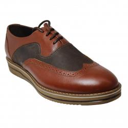 کفش مردانه چرم طبیعی ژست مدل 3055 سایز 42 (قهوه ای)