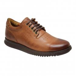 کفش مردانه چرم طبیعی ژست مدل 1044 سایز 41 (قهوه ای)