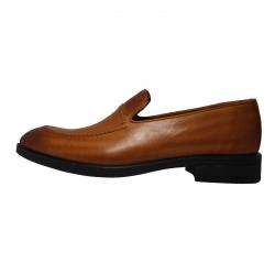 کفش مردانه چرم طبیعی ژست مدل 3084 سایز 43 (قهوه ای)