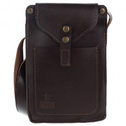 کیف دوشی چرم طبیعی گالری ستاک مدل اسپرت (قهوه ای)