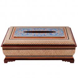 جعبه دستمال کاغذی خاتم کاری گالری مثالین  کد 141150