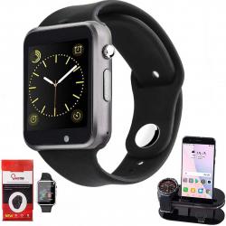 ساعت هوشمند کینگ تگ مدل A1 همراه محافظ صفحه نمایش  و استند اختصاصی شیدتگ (مشکی)