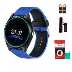ساعت هوشمند اسمارت لایف مدل V9 همراه محافظ صفحه نمایش شیدتگ و بند اضافه