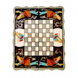 تخته نرد و شطرنج مینیاتور شیراز خاتم مدل دالبر کد 02 (چند رنگ)