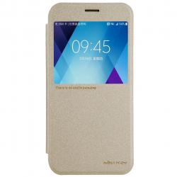 کیف کلاسوری نیلکین مدل New Leather Sparkle مناسب برای گوشی موبایل سامسونگ گلکسی A5 (طلایی)
