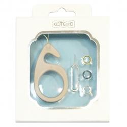 محافظ لنز دوربین کوتتسی مناسب برای گوشی اپل آیفون 6 پلاس (نقره ای)