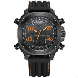 ساعت مچی عقربه ای مردانه وید مدل 2-5208 (مشکی - نارنجی)