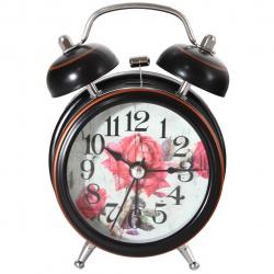 ساعت رومیزی طرح گل رز کد 10020036 (مشکی)