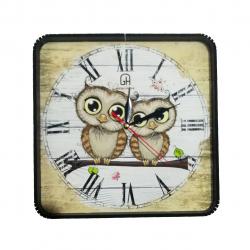 ساعت دیواری طرح جغد کد 10010252 (بی رنگ)