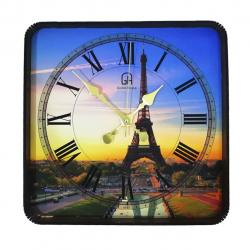 ساعت دیواری  گلدن طرح برج ایفل کد 10010153 (بی رنگ)
