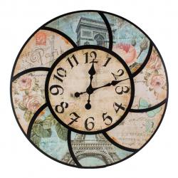 ساعت دیواری گلدن  طرح tower کد 10010199 (بی رنگ)