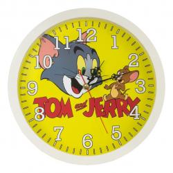 ساعت دیواری طرح Tom and Jerry کد 10010102 (سفید)