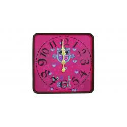 ساعت دیواری گلدن طرح جغد لاو کد 10010174 (بی رنگ)