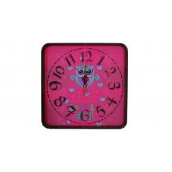 ساعت دیواری گلدن طرح جغد کد 10010145 (صورتی)