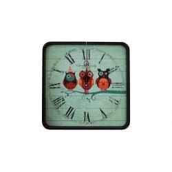 ساعت دیواری گلدن طرح جغد کد 10010151 (بی رنگ)
