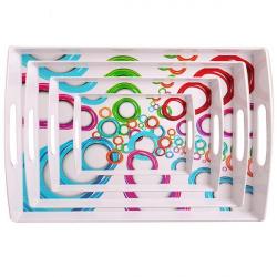 سینی مهروز مدل دایره مجموعه 4 عددی (چند رنگ)
