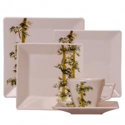 سرویس غذاخوری 30 پارچه چینی آکسفورد مدل Bamboo (سفید)