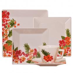 سرویس غذاخوری چینی 30 پارچه آکسفورد مدل Tropical (سفید)