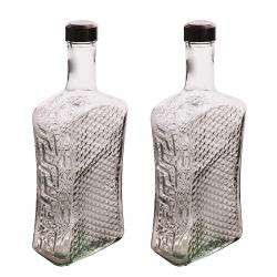 بطری مدل Book-2 بسته 2 عددی (شفاف)
