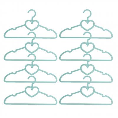 چوب لباسی مهروز مدل قلب بسته 8 عددی (بنفش تیره)