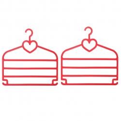 شال آویز مهروز مدل قلب بسته 2 عددی