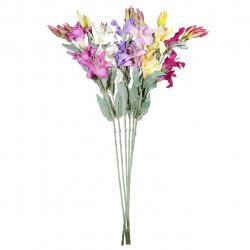 گل مصنوعی شیانچی طرح لیلیوم برفی کد 09050160 مجموعه 6 عددی