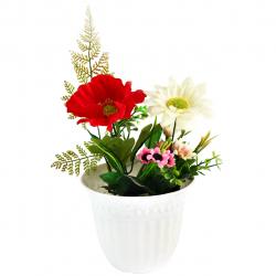 گلدان به همراه گل مصنوعی کد 09050173