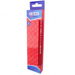 مداد قرمز استورم کد 25010006 بسته 12 عددی