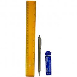 ست خط کش و مداد نوکی کد 25050002 (چند رنگ)