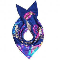 روسری ابریشم طرح روبان