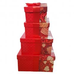جعبه کادویی طرح Heart کد 030060011 مجموعه چهار عددی