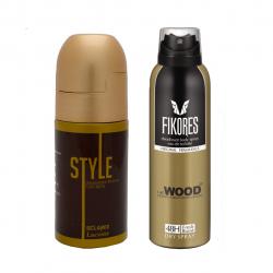 رول ضد تعریق مردانه اسکلاره مدل Style به همراه اسپری خوشبو کننده بدن مردانه فیکورس مدل Wood