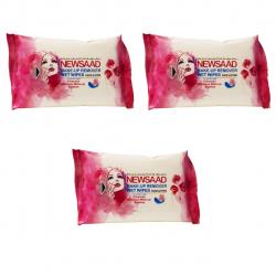 دستمال مرطوب پاک کننده آرایش نیوساد مدل Normal بسته 60 عددی